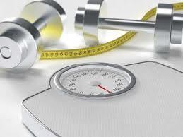 balança e fita métrica